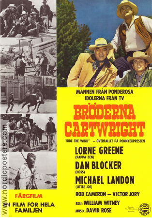 Bröderna Cartwright 1967 poster Lorne Greene