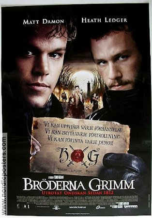Bröderna Grimm 2005 poster Matt Damon Terry Gilliam