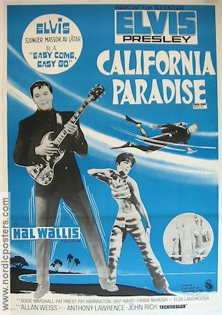 California Paradise 1967 poster Elvis Presley
