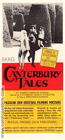 The Canterbury Tales 1973 poster Hugh Griffith Pier Paolo Pasolini