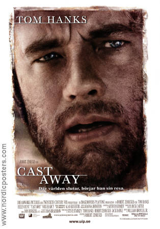Cast Away 2000 poster Tom Hanks Robert Zemeckis