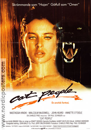 Cat People 1982 poster Nastassja Kinski Paul Schrader