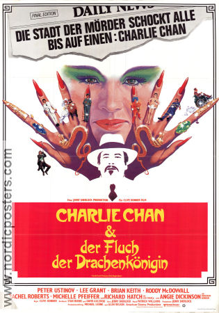 Charlie Chan and the Curse of the Dragon Queen 1981 poster Peter Ustinov Clive Donner