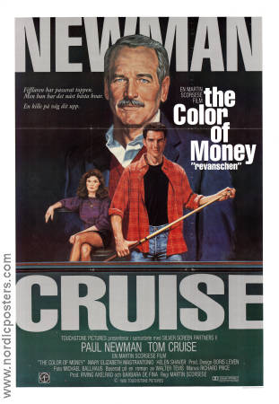The Color of Money 1986 poster Paul Newman Martin Scorsese