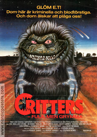 Critters 1986 poster Dee Wallace Stone Stephen Herek