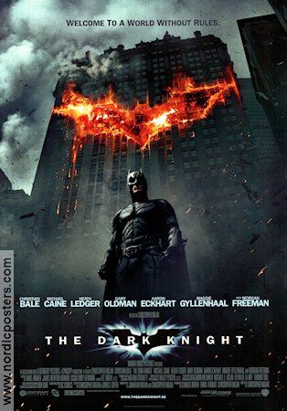The Dark Knight 2008 poster Christian Bale Christopher Nolan