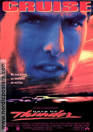 Days of Thunder 1990 poster Tom Cruise Tony Scott