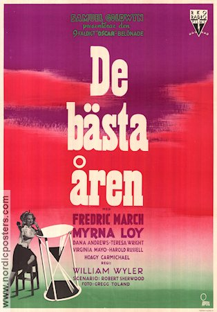 De bästa åren 1947 poster Fredric March William Wyler