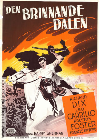 Den brinnande dalen 1942 poster Richard Dix William C McGann