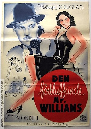 Den förbluffande Mr Williams 1940 poster Melvyn Douglas
