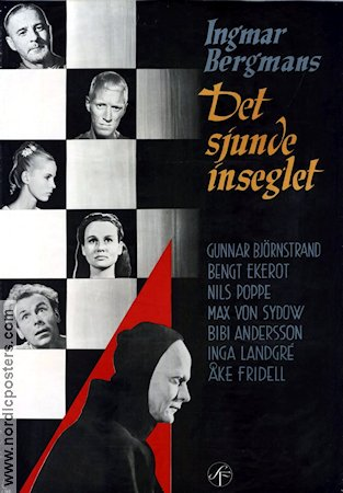 Film Poster The Seventh Seal 1957 Sweden