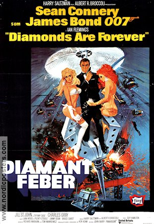 Diamantfeber 1971 poster Sean Connery Guy Hamilton