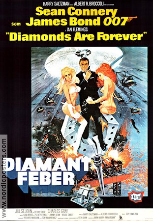 Diamantfeber 1971 poster Sean Connery