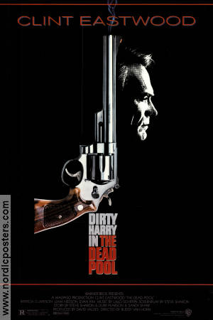 Dirty Harry i Dödsspelet 1988 poster Clint Eastwood