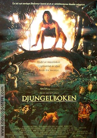 Djungelboken 1994 poster Jason Scott Lee