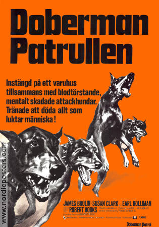Dobermanpatrullen 1972 poster James Brolin