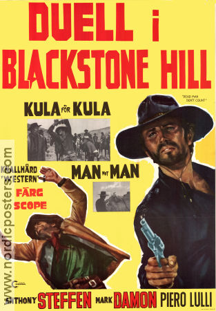 Duell i Blackstone Hill 1968 poster Anthony Steffen Rafael Romero Marchent