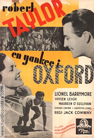 En yankee i Oxford 1938 poster Robert Taylor Jack Conway