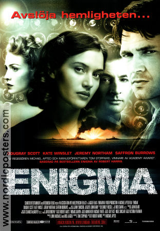 Enigma 2002 poster Dougray Scott Michael Apted