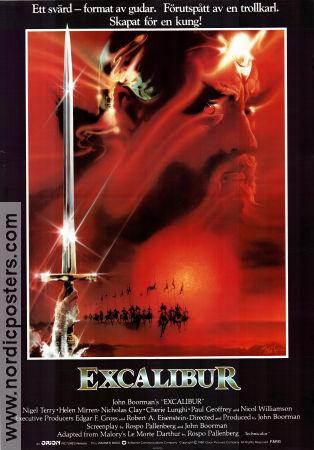 Excalibur movie poster