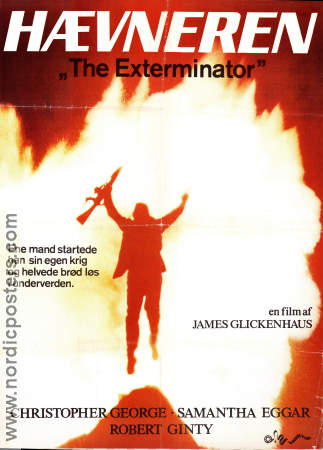 The Exterminator 1983 poster Christipher George James Glickenhaus