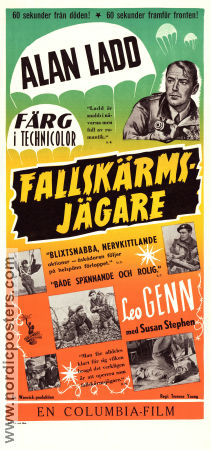 Fallskärmsjägare 1953 poster Alan Ladd Terence Young