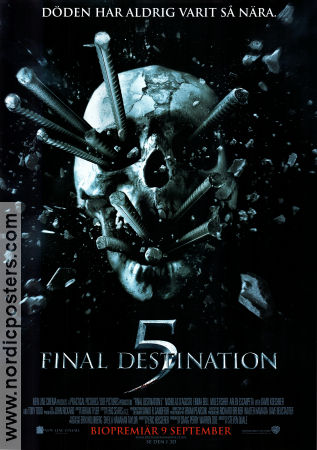 Final Destination 5 2011 poster Nicholas D´Agosto Steven Quale