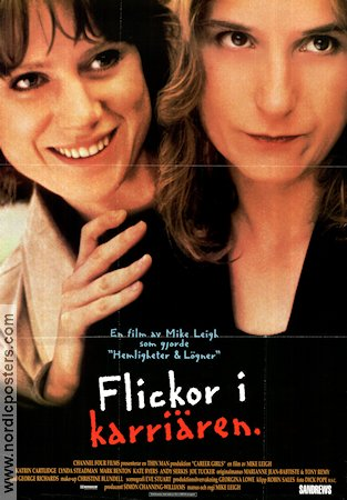 Flickor i karriären 1997 poster Katrin Cartlidge Mike Leigh