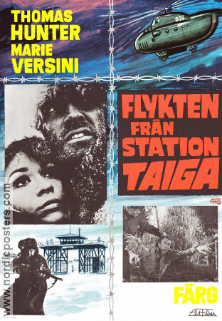 Flykten från station Taiga 1969 poster Thomas Hunter