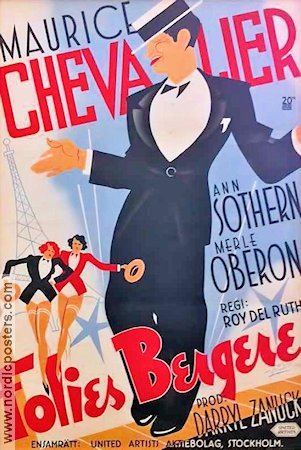Folies Bergere 1935 poster Marucie Chevalier Roy del Ruth