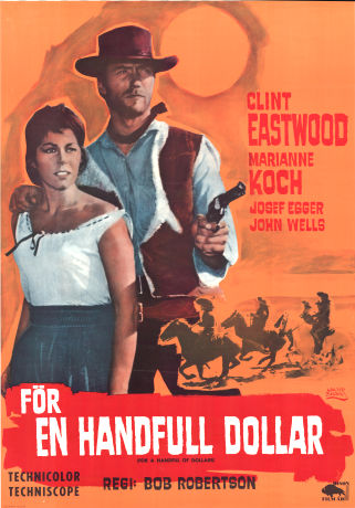 Movie Poster A Fistful of Dollars (1966) Swedish