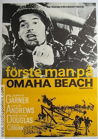 Förste man på Omaha Beach 1965 poster Julie Andrews