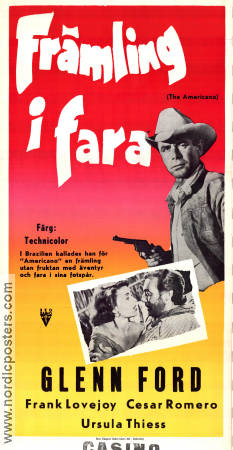Främling i fara 1955 poster Glenn Ford William Castle