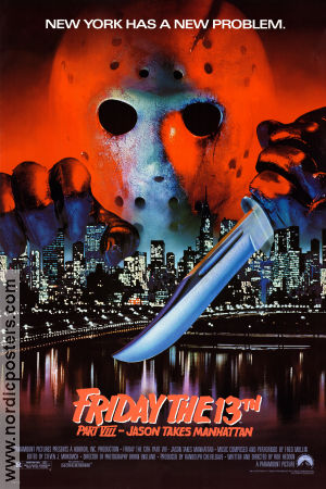 Friday the 13th part 8 1989 poster Rob Hedda
