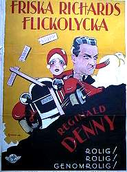 Friska Richards flickolycka 1929 poster Reginald Denny