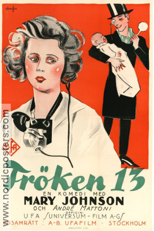 Fröken 13 1925 poster Mary Johnson