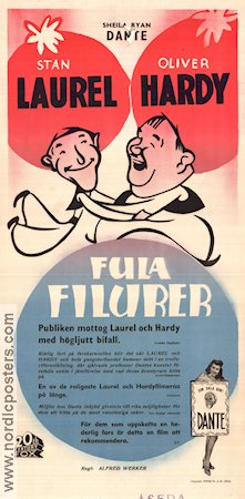 Fula filurer 1942 poster Laurel and Hardy