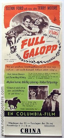 Full galopp 1949 poster Glenn Ford