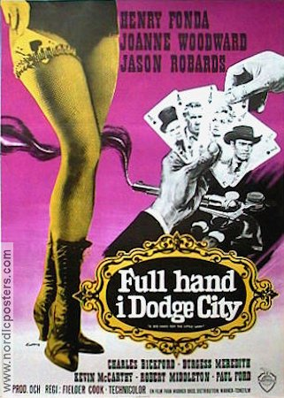 Full hand i Dodge City 1966 poster Henry Fonda