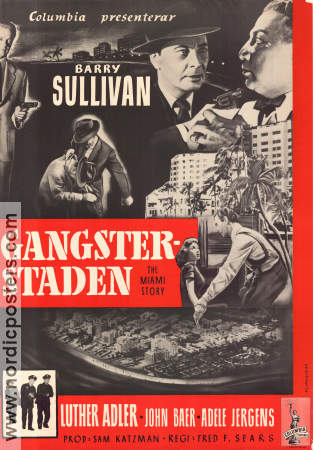Gangsterstaden 1954 poster Barry Sullivan Fred F Sears