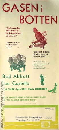 Gasen i botten 1955 poster Abbott and Costello