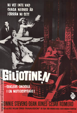 Giljotinen 1965 poster Connie Stevens William Conrad