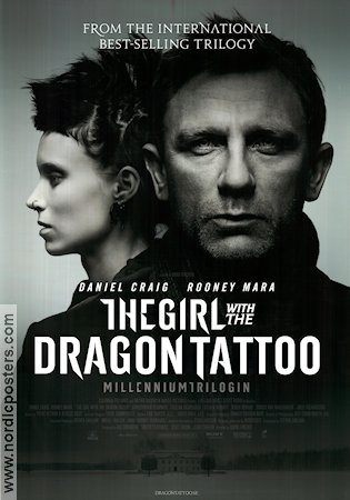 The Girl with The Dragon Tattoo 2011 poster Daniel Craig David Fincher