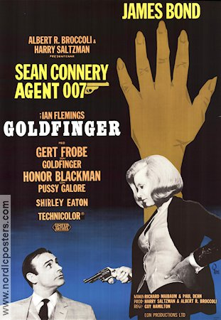 Goldfinger 1964 poster Sean Connery