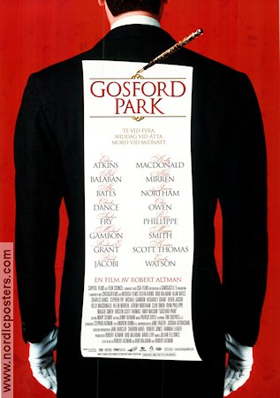Gosford Park 2002 poster Maggie Smith Robert Altman