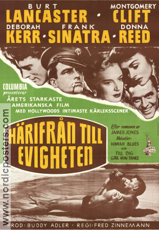 Film Poster From Here to Eternity 1953 Sweden