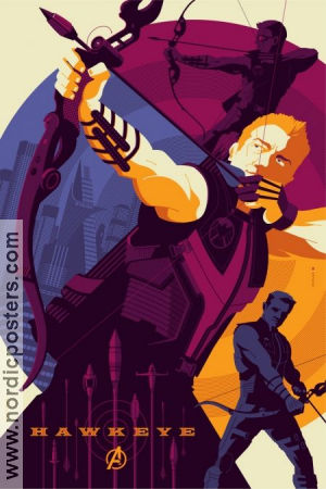 Limited litho HAWKEYE No 69 of 220 2012 affisch