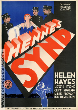Hennes synd 1931 poster Helen Hayes
