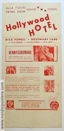 Hollywood Hotel 1939 poster Dick Powell Busby Berkeley