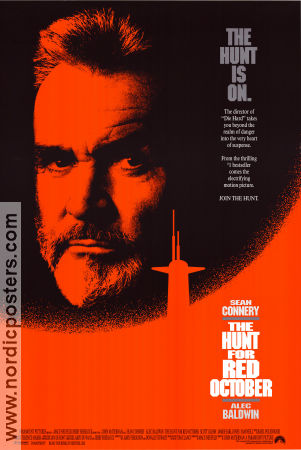 The Hunt For Red October 1990 poster Sean Connery